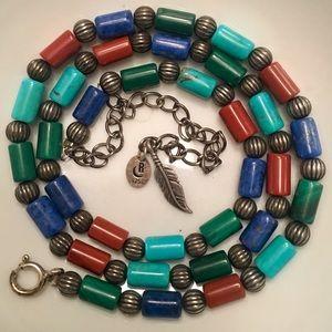 Southwestern Sterling Multi-colored Gemstone Beads